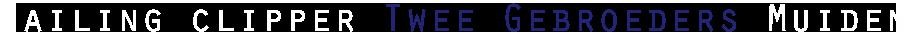 Twee Gebroeders: zeilen Muiden | Zeilen vanuit Muiden op het IJsselmeer Logo